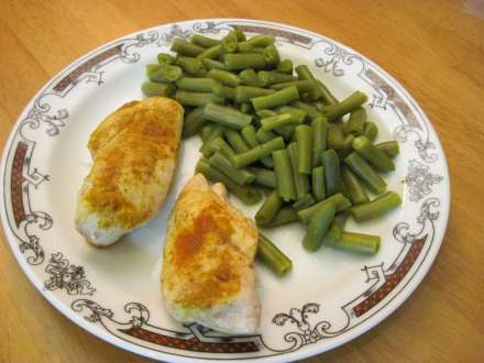 Curry Breasts with Green Beans