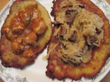 Stuffed potato pancakes