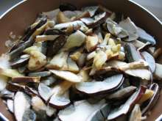 Braising mushrooms