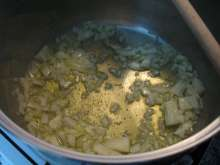 Preparation of potatoes and onion