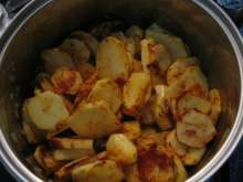 Braise the potatoes