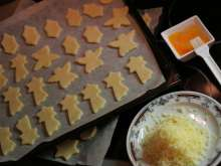 Knead the dough a cut cookies
