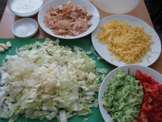 Preparation of the ingredients