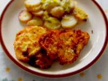 Chicken cutlets with tartar sauce