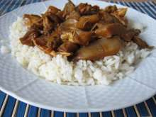 Steamed Oyster Mushroom with Chicken Meat