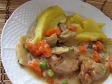 Marinated Chicken Meat with Asian Vegetable