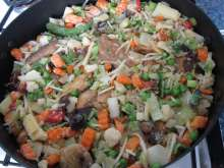 Add asian vegetable mixture