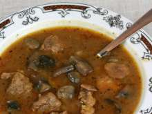 Pork Goulash with Mushrooms