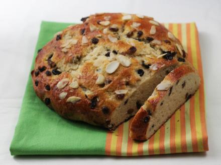 Easter mazanec (sweet Slovak Easter bread)