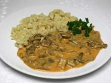 Oyster mushrooms paprikash