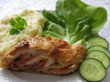 Chicken Roulade in Puff Pastry