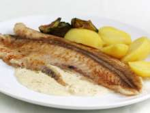 Pangasius with cream - mustard sauce