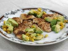 Chicken breast with avocado-corn salsa