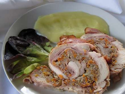 Chicken Roulade with Minced Meat