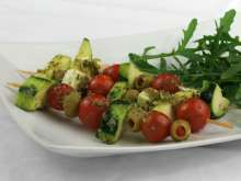 Grilled Vegetable Skewers with Pesto