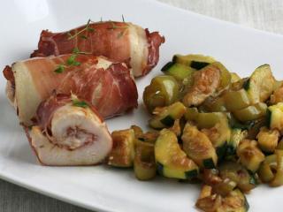 Chicken Rolls with Schwarzwald Ham