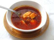 Fisherman's soup (halaszle) from pangasius