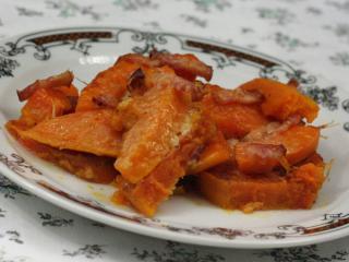 Baked potato with hokaido pumpkin