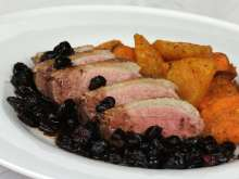 Duck Breasts with Cranberry Sauce