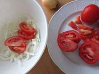 Onion, tomatoes