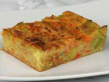 Leek Pudding with Pumpkin