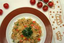 Poultry risotto