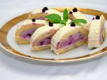 Blueberry cream cheese jelly roll