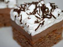 Instant cocoa drink cake
