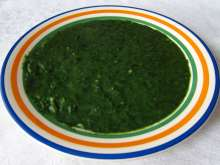 Creamed Spinach from Fresh Spinach