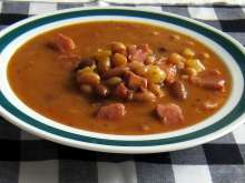 Fistful Bean Soup with Smoked Ham Hock