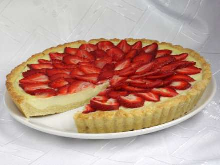 Strawberries dessert with mascarpone