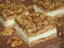 Honey Slices with Walnut Crumble