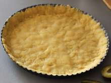 Grease The Cake Pan With The Butter And Evenly Push The Dough Into It