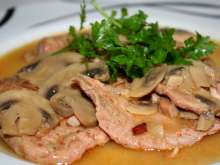 Pork with mushrooms