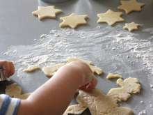 Baking and filling of the stars