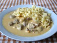 Pork Cubes in Vegetable - Creamy Sauce
