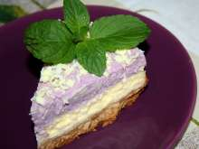 Cheesecake with Blueberry Whipped Cream