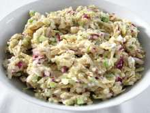 Tuna salad with ribbed celery
