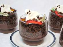 Custard Halloween Glass
