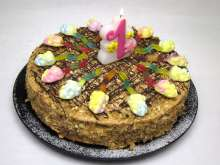 Honey birthday cake