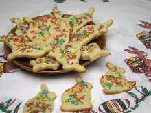 Shortbread Easter Bunnies