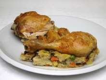 Chicken with Vegetable Stuffing and Chick-Pea