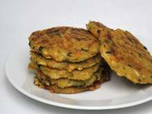 Celery pancakes with cheese