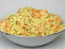 Cabbage salad with cheddar