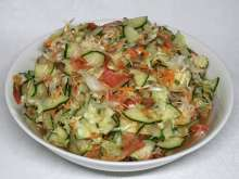 Crispy vegetable salad