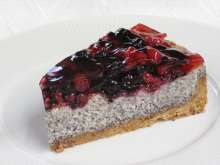 Poppy cheesecake with mascarpone