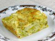 Leek pie with cheese
