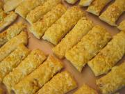 Puff pastry cheese sticks