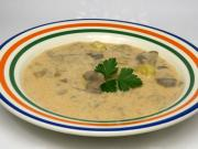 Oyster Mushroom Soup with Sour Cream