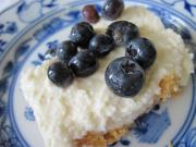 Homemade Cheesecake with Blueberries